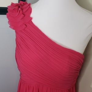 New! Ever Pretty Pink Chiffon One Shoulder Formal